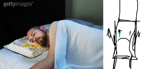 MARKER CRIS AT STOCK PHOTO OF MAN SLEEPING ON CAKE by alexlion0511