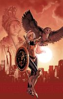 Athena issue 2 cover by PaulRenaud