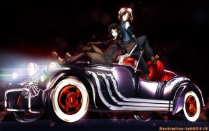 Roadster Convertible Coupe - Asami x Korra by hachimitsu-ink