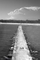 A Pier To Be Amazed-BW version by TheArtOfaMadMan