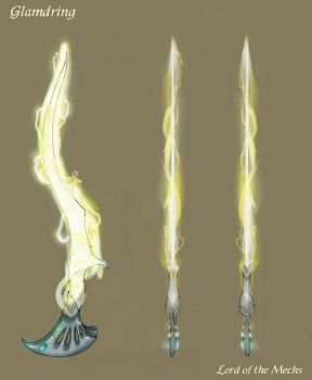 Glamdring- the energy sword by firesprite