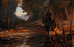 Geralt in the Beskidy mountains2 by Kalberoos
