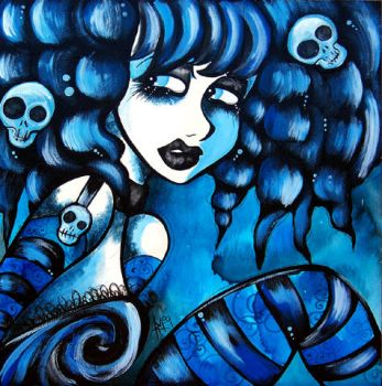 Another Blue Goth Girl by The-Kreep
