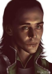 Loki: mouth shut by Lady-Werewolf