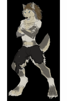 Werewolf Lineart Color practice by V8Arwing67