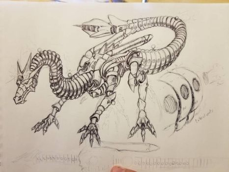 Atomic Heart Dragon sketch by GTDees