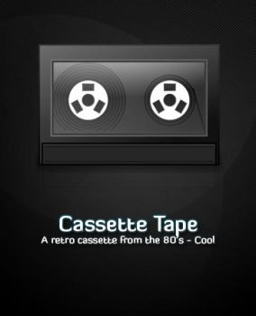 Retro Cassette Tape by michaelmknight