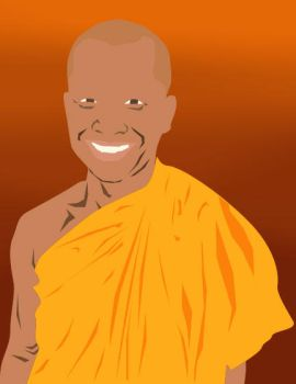 The Grinning Monk by GenericPseudonym