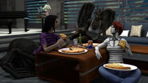 Pizza and War Stories (Fracturing Veil) by RagnarokEOTW