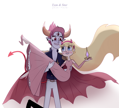 Tom and Star / svtfoe by flxres