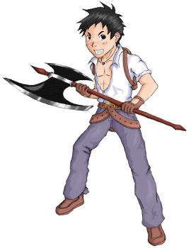 Junpei the Blacksmith by kyujinueno