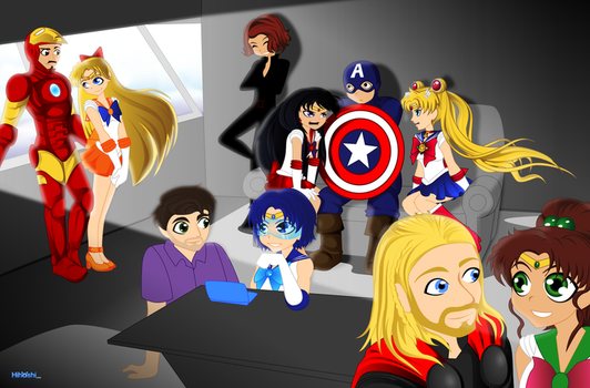 Sailor Avengers-01 by Hihoshi