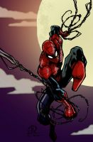 Spiderman Ink and Coloring by CThompsonArt