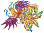 Rainbow Phoenix by Nathaldron