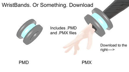 WristBands or Something. Download by MMDCousins