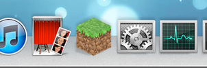 My Mountain Lion Dock Theme: Rocketdock by pseppy1