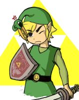 Link and Ezlo / Legend of Zelda: The Minish Cap by umbreon19