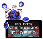 PC - Lapis Points Commissions Closed Stamp by Ink-cartoon