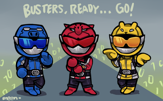 Chibi Go-Busters by MeensArts