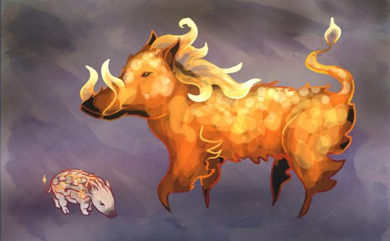Fire Pigs by sqbr