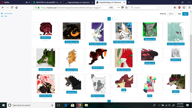 Cheap Characters For Sale or Trade by AN1k3T0S