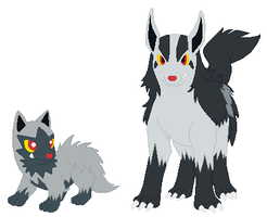 Poochyena and Mightyena Base by SelenaEde