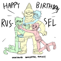 Happ Birth Russ! by surligneurs