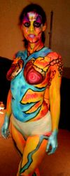Alien Body paint duce by ciphersilva