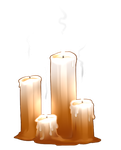 Dauis Prayer Candles by AlphaStryx