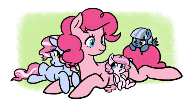 Pinkie and Her Daughters by kilalaaa