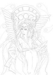 Ghost lineart - for coloring by Dar-chan
