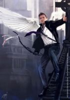 Avenging angel: Clint by Brilcrist