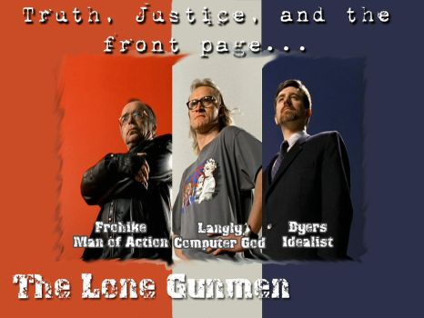 Lone Gunmen WP by punster-almighty