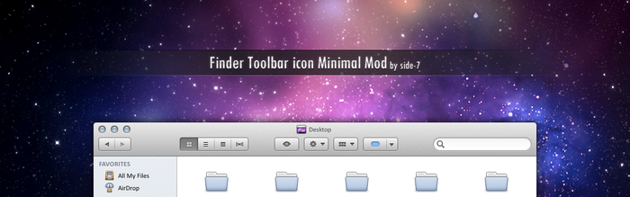 Finder Toolbar icon Minimal Mod by Side-7
