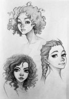 Face drawing by orangedk