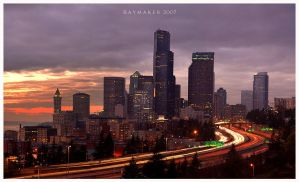 Last Rays Over Seattle by Raymaker