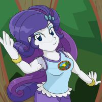 Rarity - Legend of Everfree by yoshimarsart