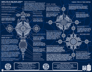 TARDIS Type 40 Schematic Blue Print style page 1 by Time-Lord-Rassilon