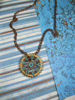 Circles and Cogs, Part One - Steampunk Necklace by DanielleDucrest