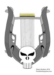 The Punisher's 12-stringed Lyre by OwossoHarpist