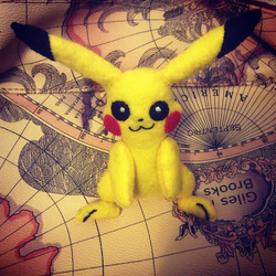 Pikachu (felt doll) by MichelleBergeron
