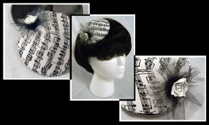 Small Musical Cocktail Hat by Mellowed-Mushroom