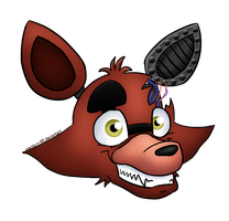 Withered Foxy Headshot by menta-RR-66