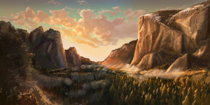 Yosemite Valley by chateaugrief