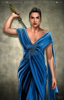 Gal Gadot Blue Dress by hamletroman