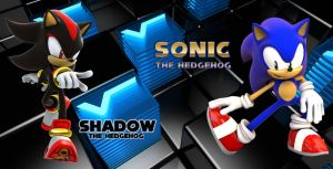 Sonic and Shadow - Wallpaper by Knuxy7789