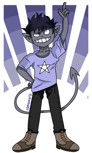 :ADOPT: Lil Demon Kid (closed) by IAmAmory