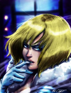 Emma Frost by Mark-Clark-II