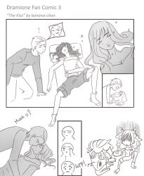Dramione Fan Comic 3: The kiss by bonana-chan
