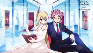 Natsu And Lucy (Collab) by Sam-Baten